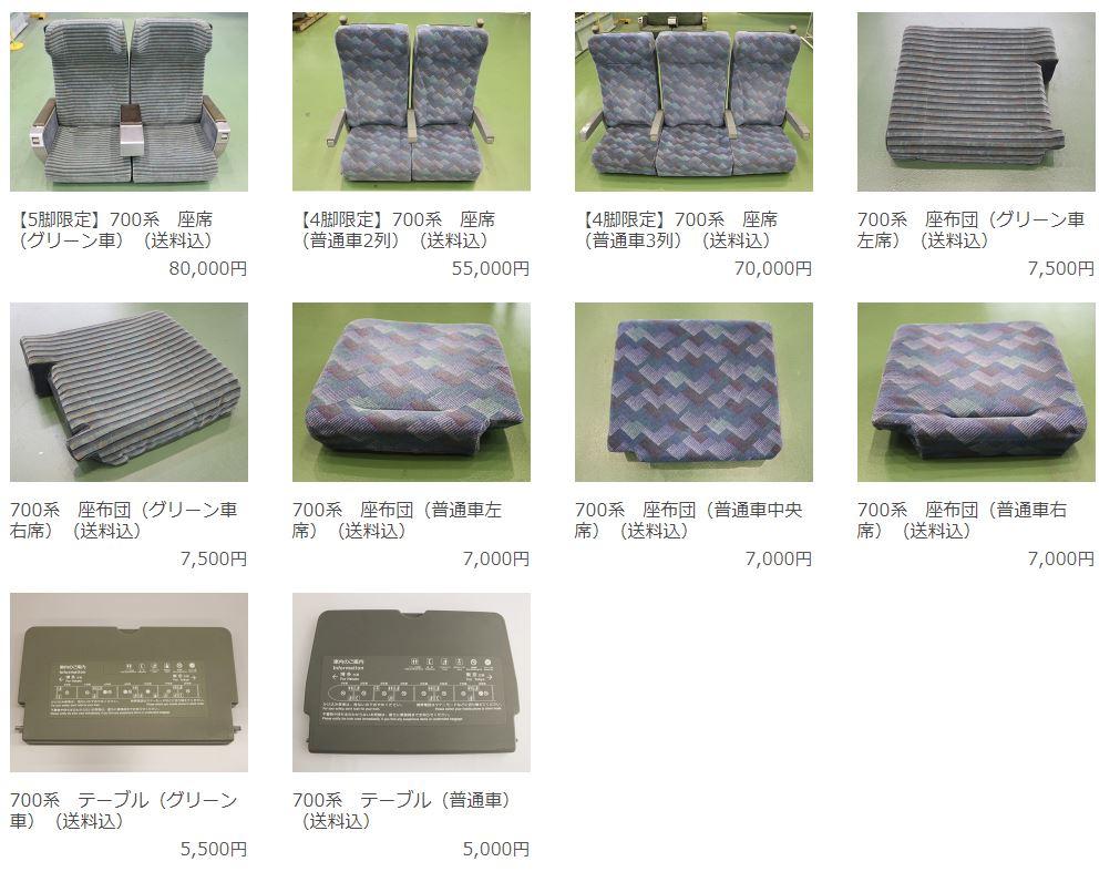 JR東海鉄道倶楽部にて販売されたシートなどの写真