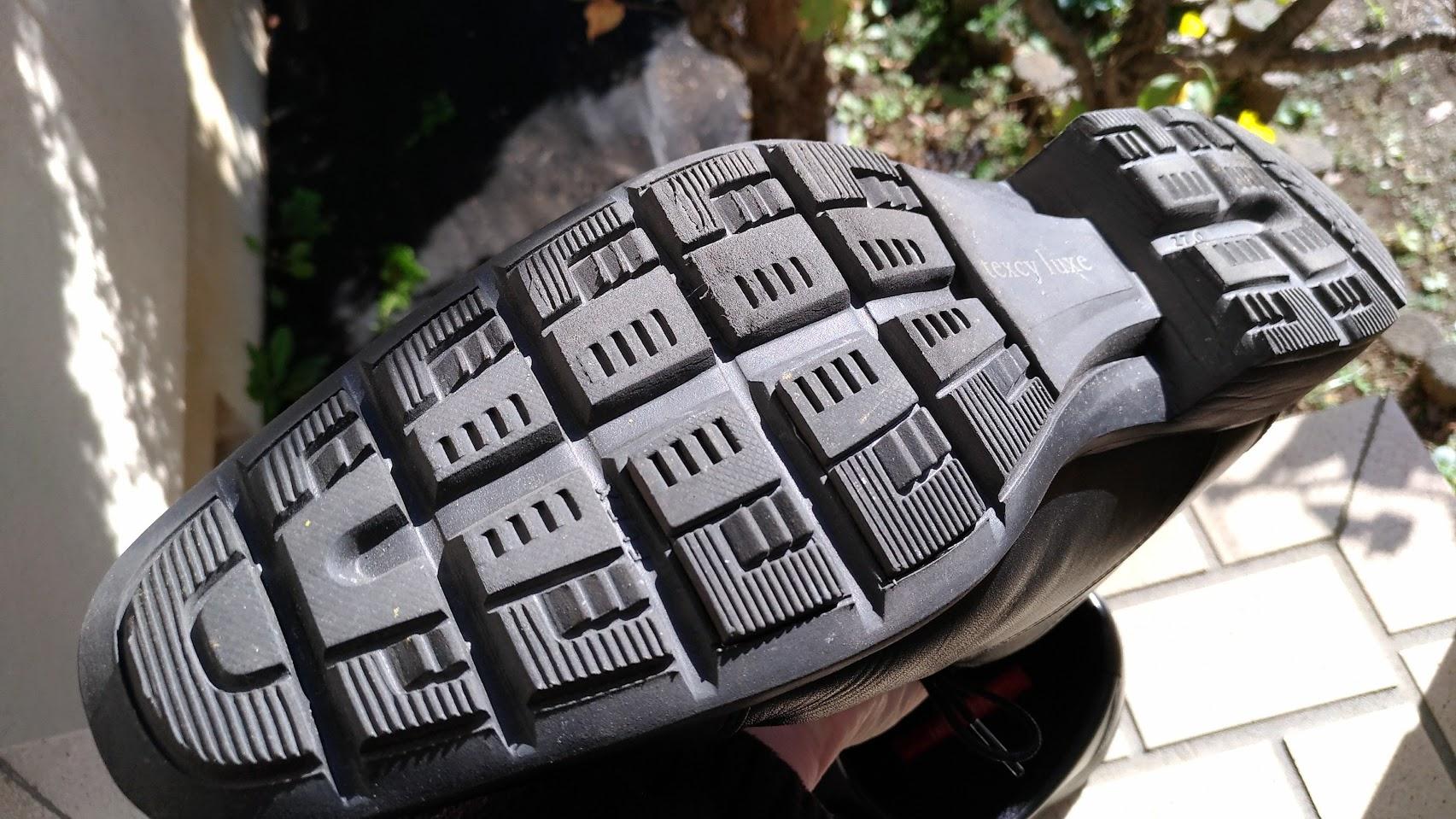 テクシーリュクスの靴の裏側の写真